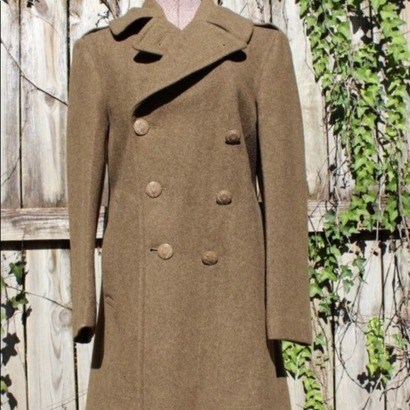 Vintage Other - Vintage WWII Wool Military Coat Peacoat 34R